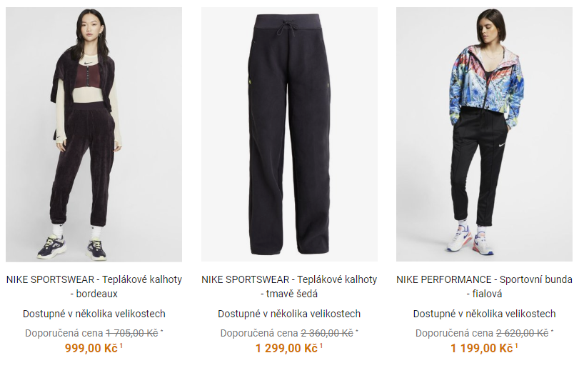 nike outlet cz