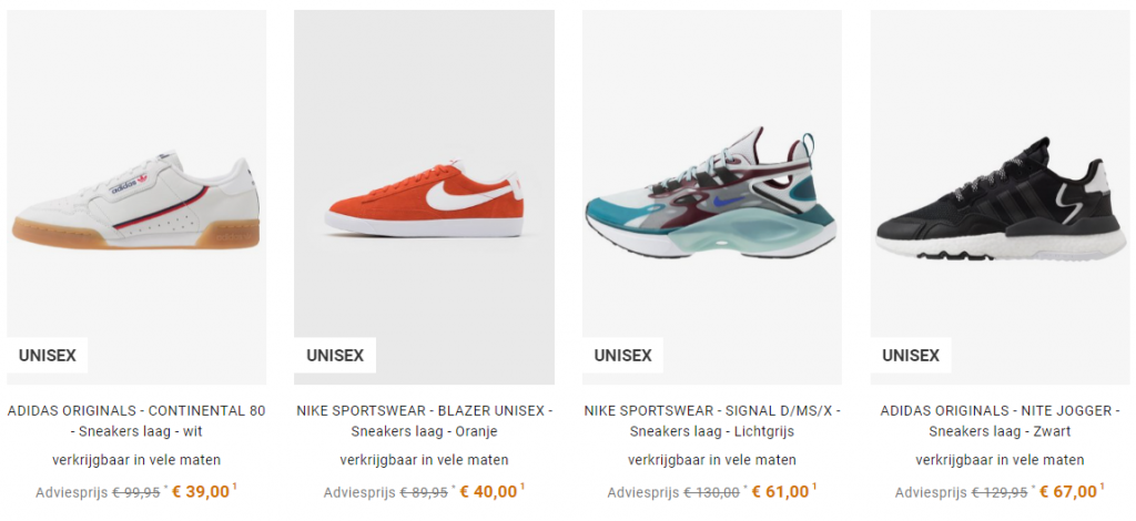 sneakers outlet BE