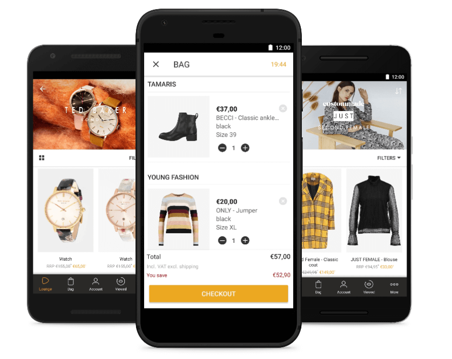 Mockup COM Winter Zalando Lounge Apps