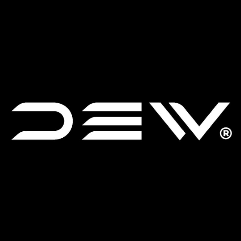 DEW Logo op zwarte achtergrond