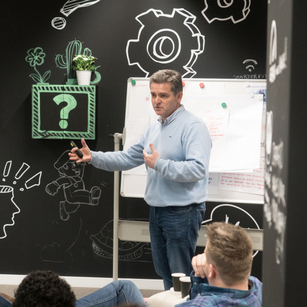 Kunigi: innovatie workshop/brainstorm Mark de Colvenaer