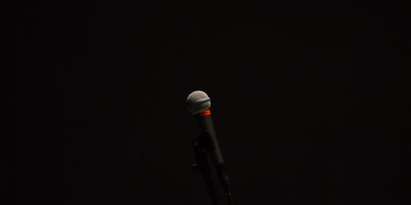 Foto van microfoon