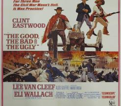 De oude filmposter van The Good, The Bad and The Ugly