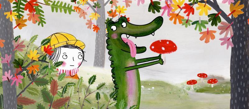 Rita en Krokodil ontdekken de tuin van oma.