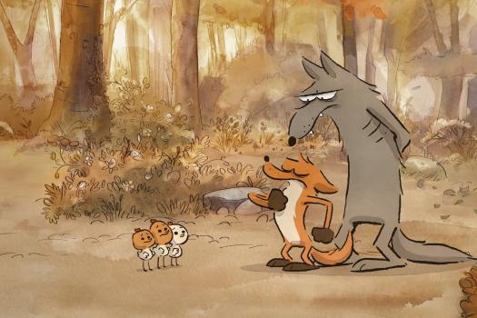 De vos neemt zijn taak serieus, terwijl de wolf het moeilijk heeft.
