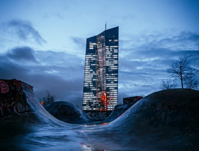 hoofdkantoor van de ECB in Frankfurt. Tobias Reich, Unsplash