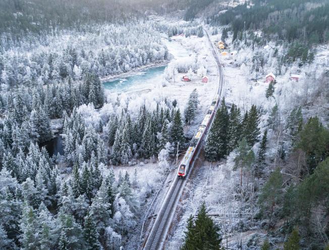 Trein in Noorwegen (shutterstock)