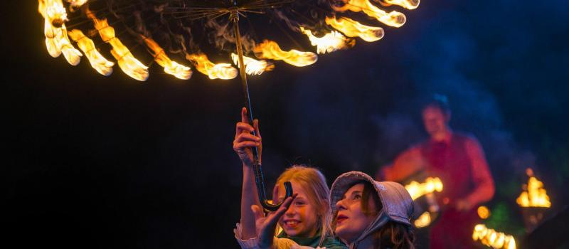 Sprookjes Enzo - paraplu met vuur