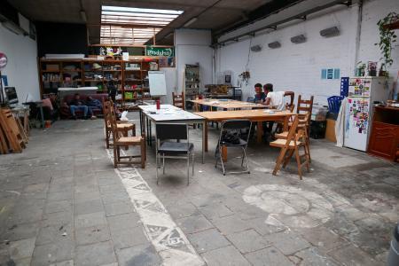 interieur van het atelier Straatier