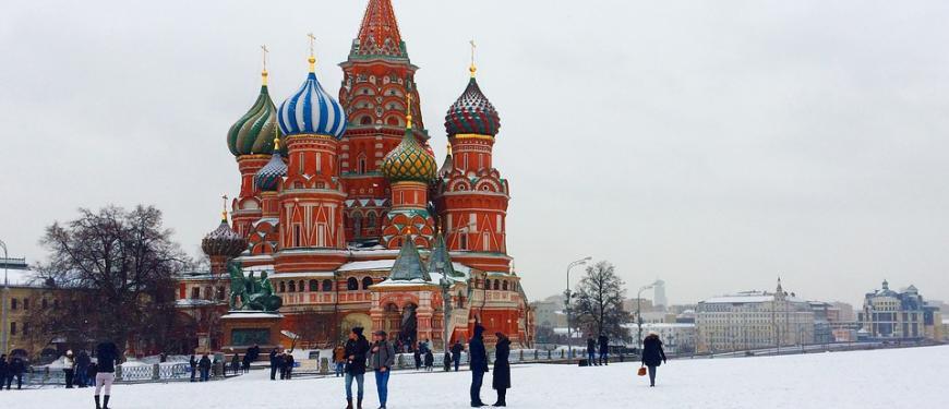 Kathedraal van de Voorbede van de Moeder Gods  (Moskou) Rusland Poetin