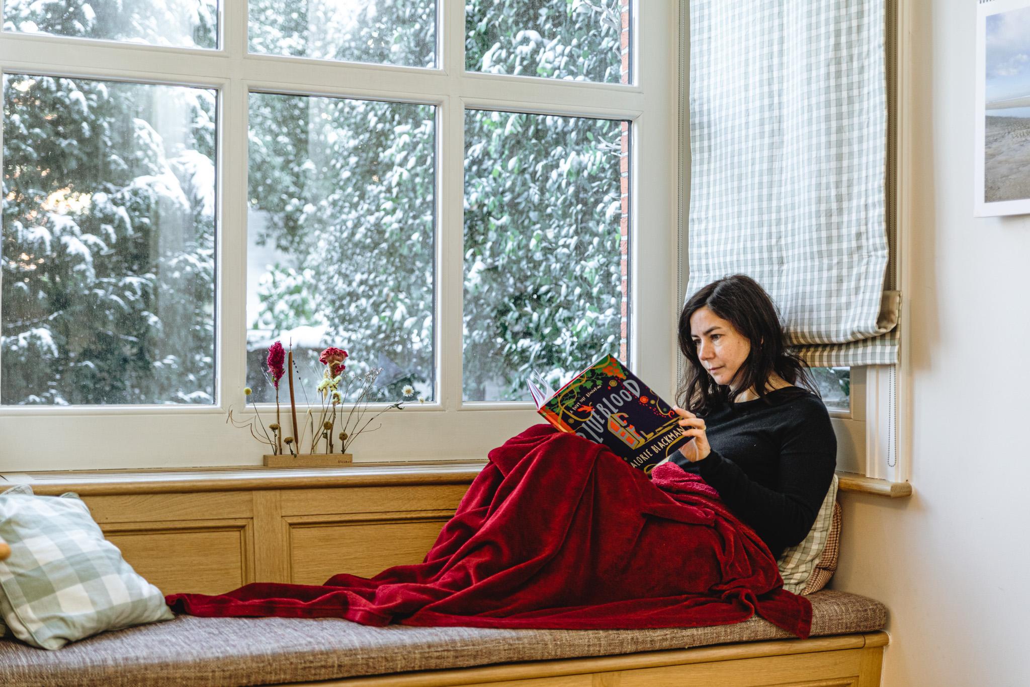 Lezen onder een dekentje