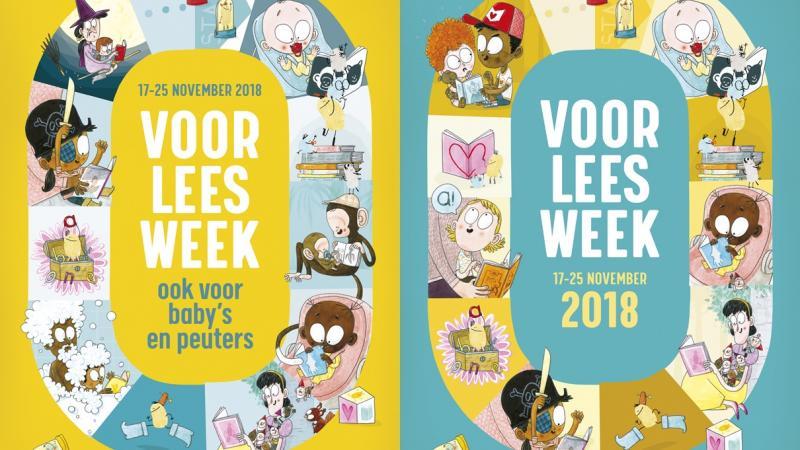 Affiches van de Voorleesweek editie 2018