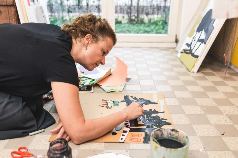 Het atelier van Erika Cotteleer