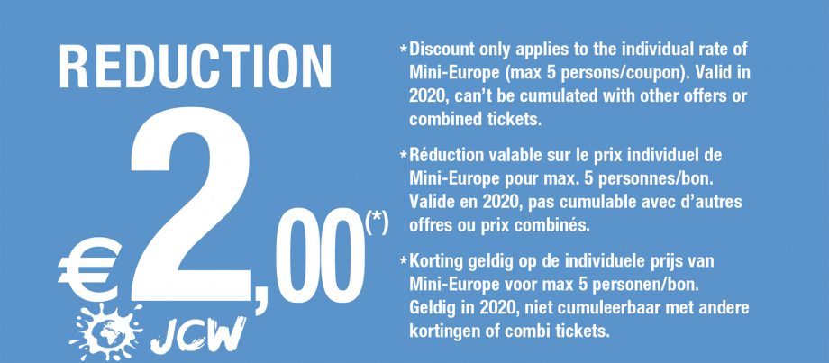 kortingsbon Mini-Europe