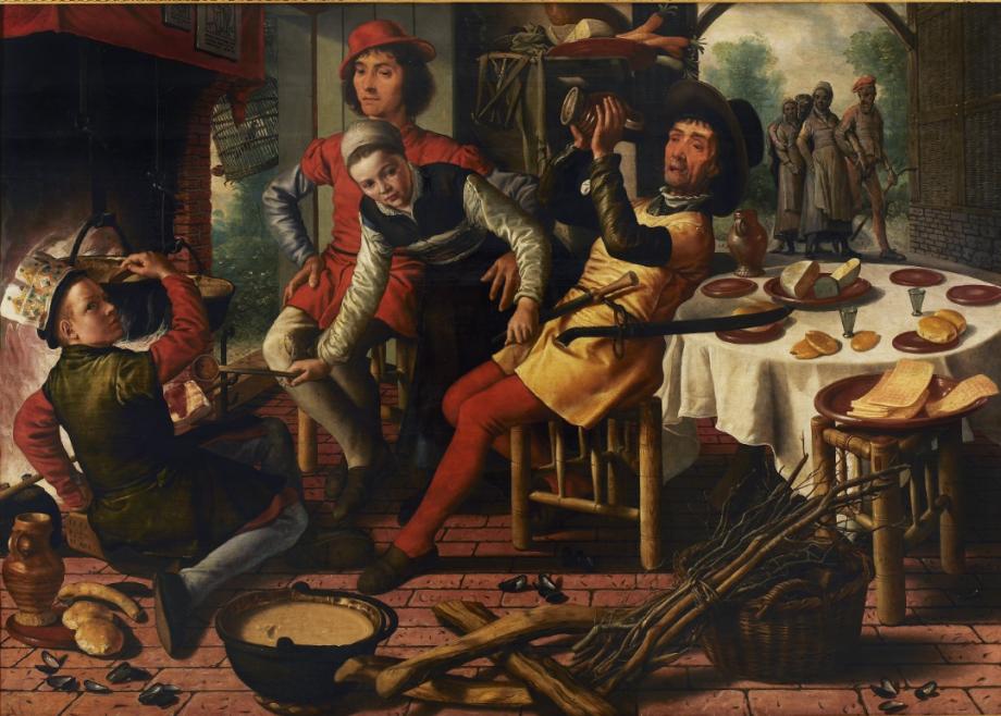 'Boerengezelschap bij de haard', Pieter Aertsen, Museum Mayer van den Bergh, Antwerpen (foto: Michel Wuyts).