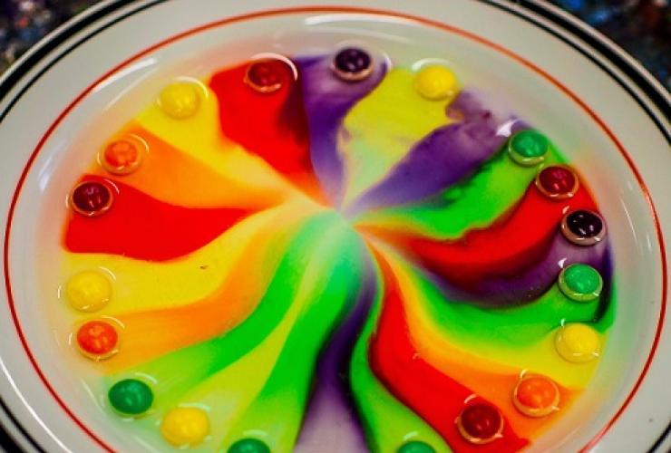 Kleurrijk proefje