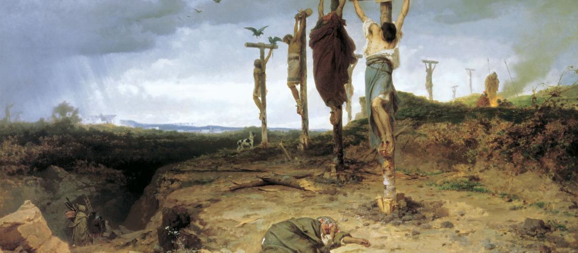 Een schilderij van Fyodor Bronnikov uit 1878.