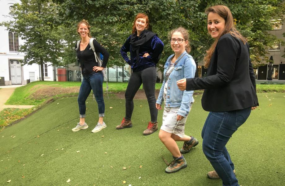 kunstencentrum nona doet mee aan de Refugee Walk van Vluchtelingenwerk Vlaanderen 30/09/2018