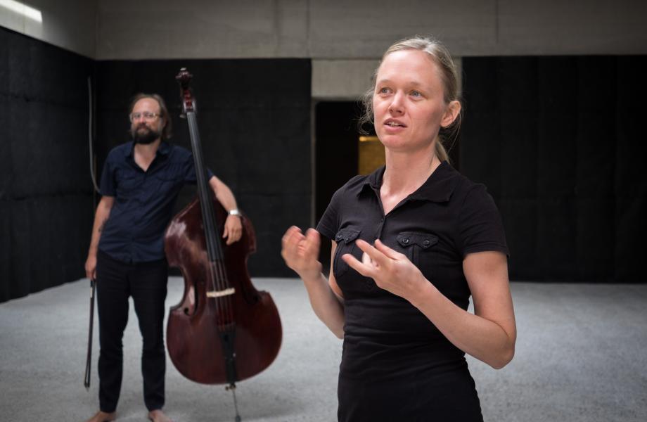 Charlotte Vanden Eynde & Nicolas Rombouts - Sneak Peek 16 september 2018 kunstencentrum © Stijn Van Bosstraeten