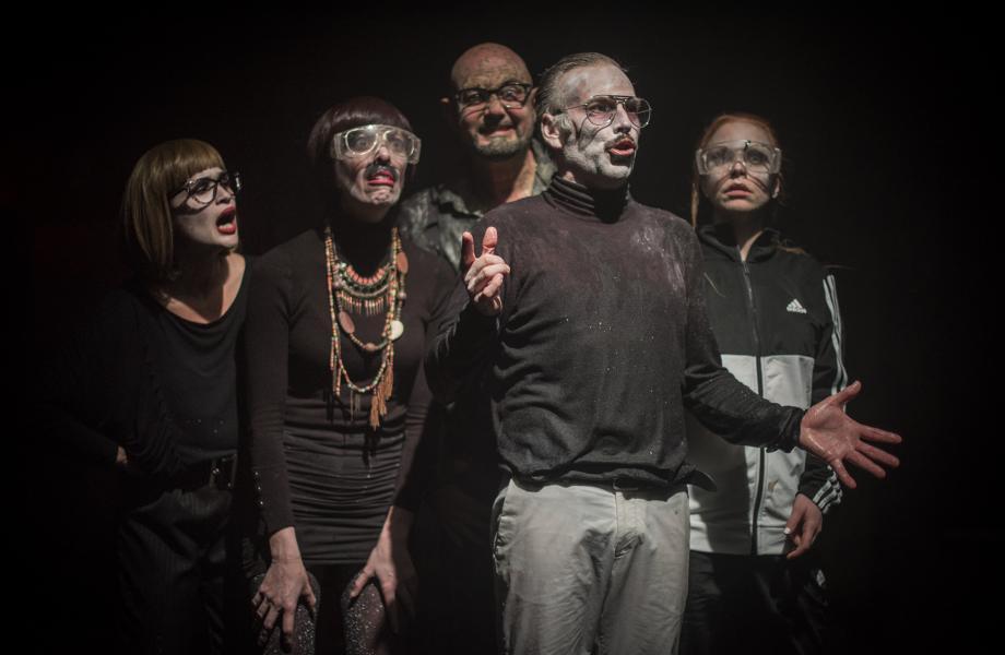 Tine Van den Wyngaert, Kirsten Pieters, Chiel van Berkel, Steve Geerts en Anneke Sluiters
