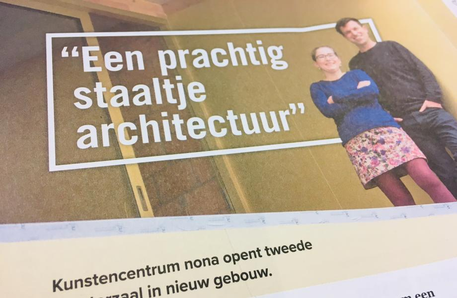 """""""Een prachtig staaltje architectuur"""" - artikel Nieuwe Maan (december 2018)"""