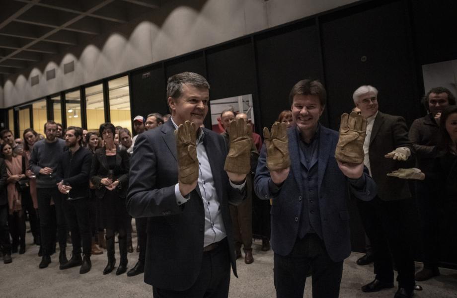 De Grote Oplevering - 19 januari 2019 - Bart Somers en Sven Gatz - kunstencentrum nona © Sofie Jaspers