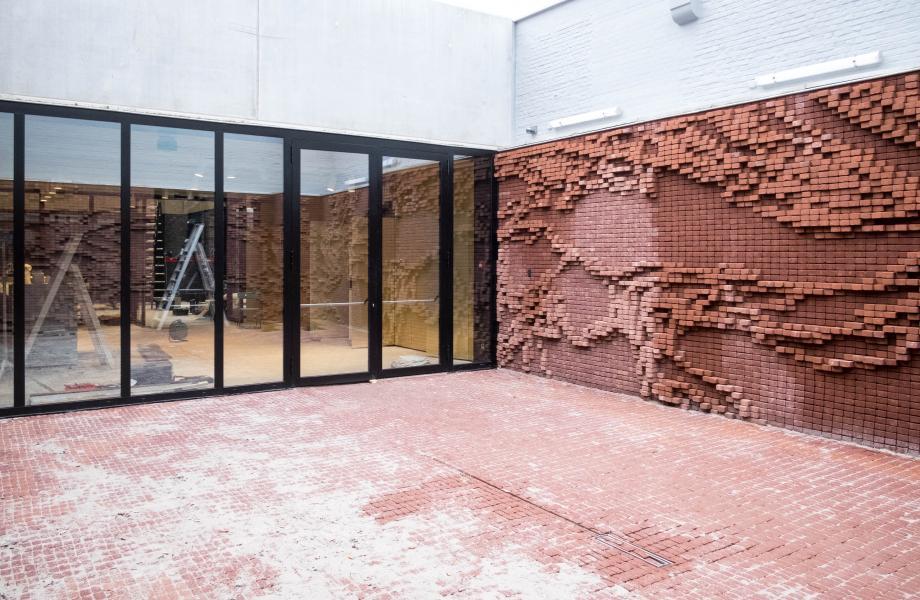 Patio kunstencentrum nona - kunstwerk Nick Ervinck © Stijn Van Bosstraeten
