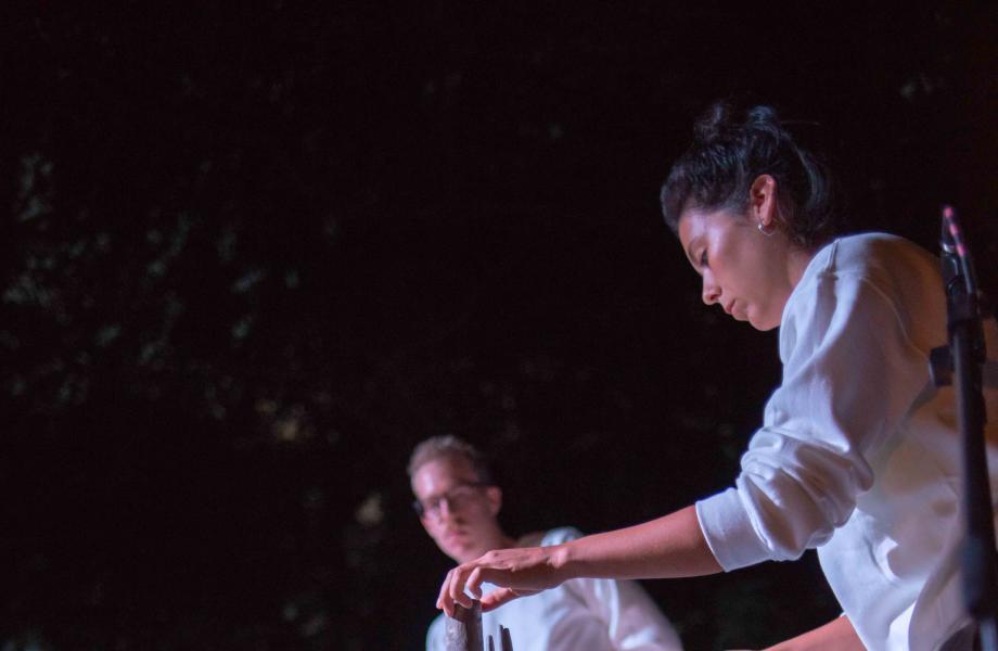 Maika Garnica & Senne Claes - Lunar Kinetic Sound Night - kunstencentrum nona