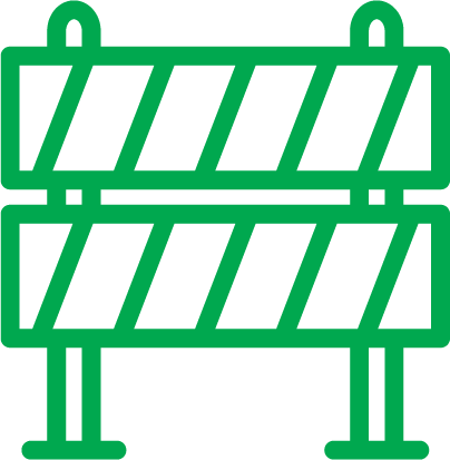 illustratie van groen afsluithek
