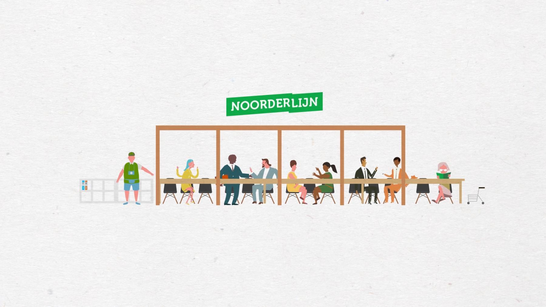 illustratie van infopunt Noorderlijn