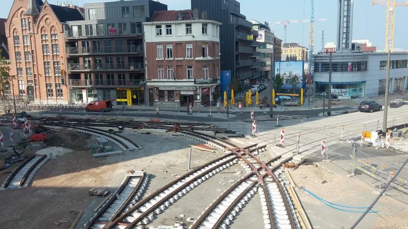 Foto van de nieuwe sporen op de Noorderplaats