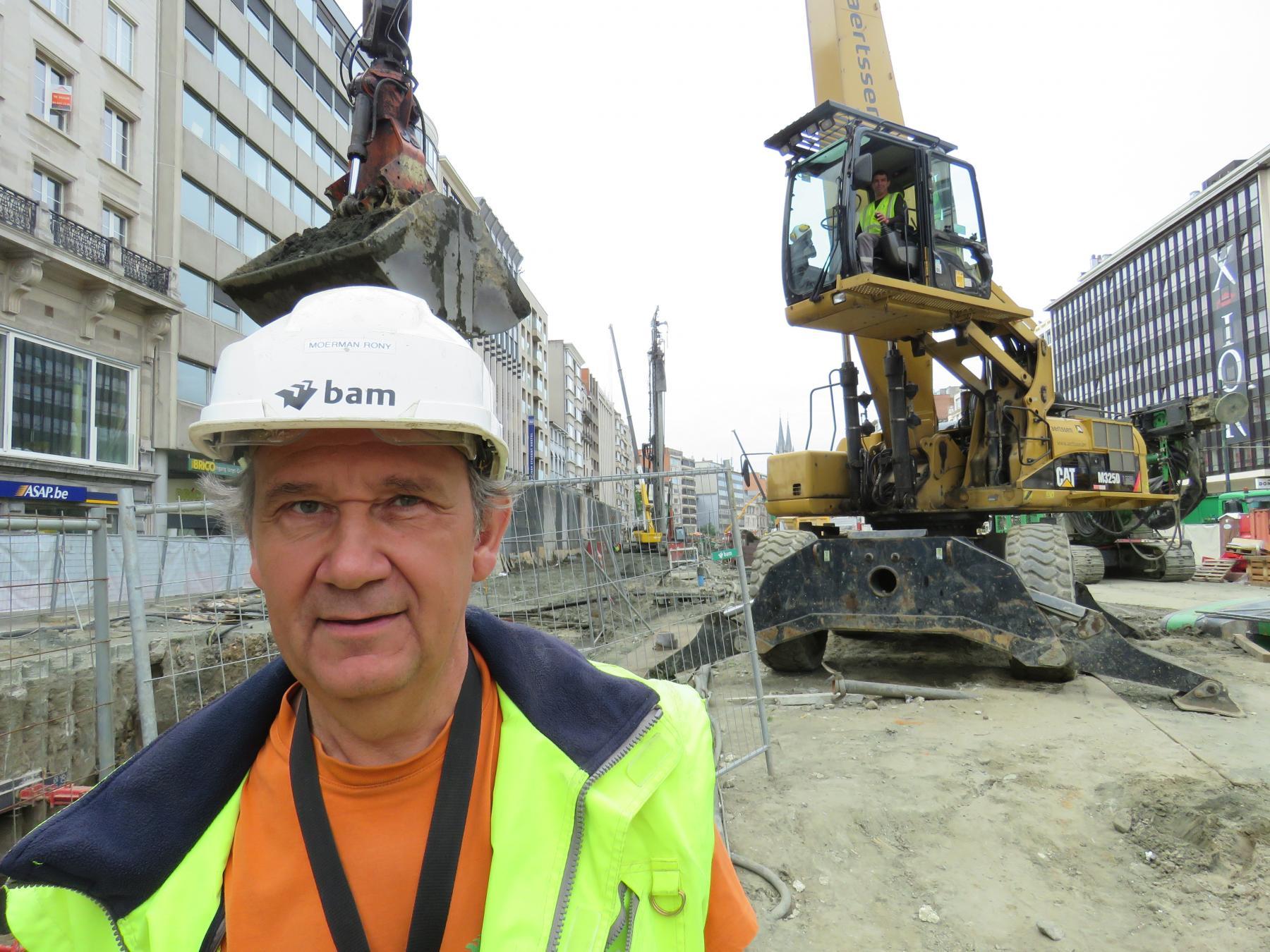 Foto van Rony, werfmedewerker van de Noorderlijn