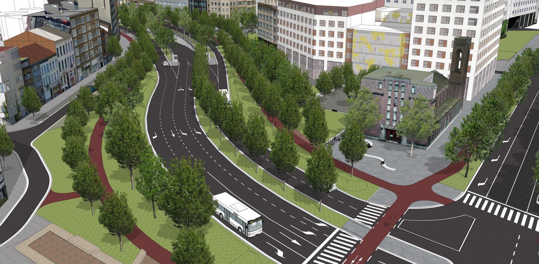Foto van de toekomstige Tunnelplaats