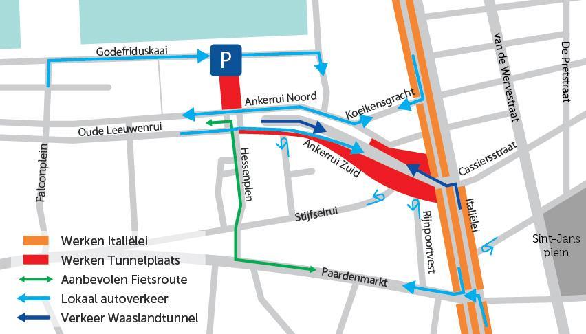 bereikbaarheidskaart Tunnelplaats fase 2
