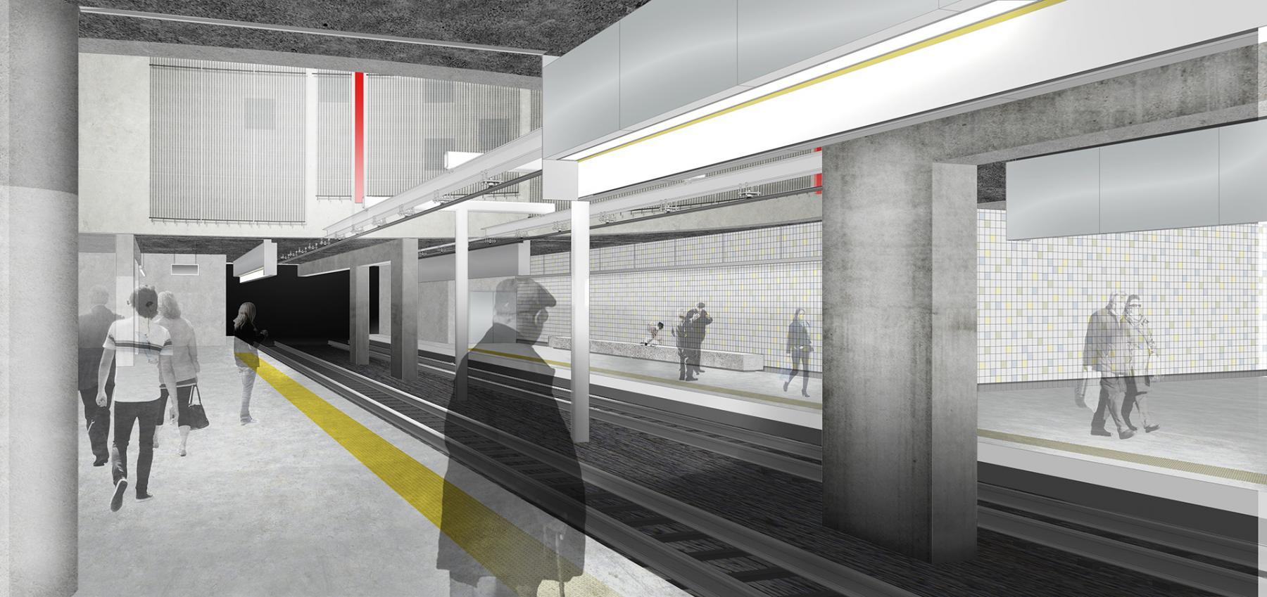 het vernieuwde premetrostation Opera