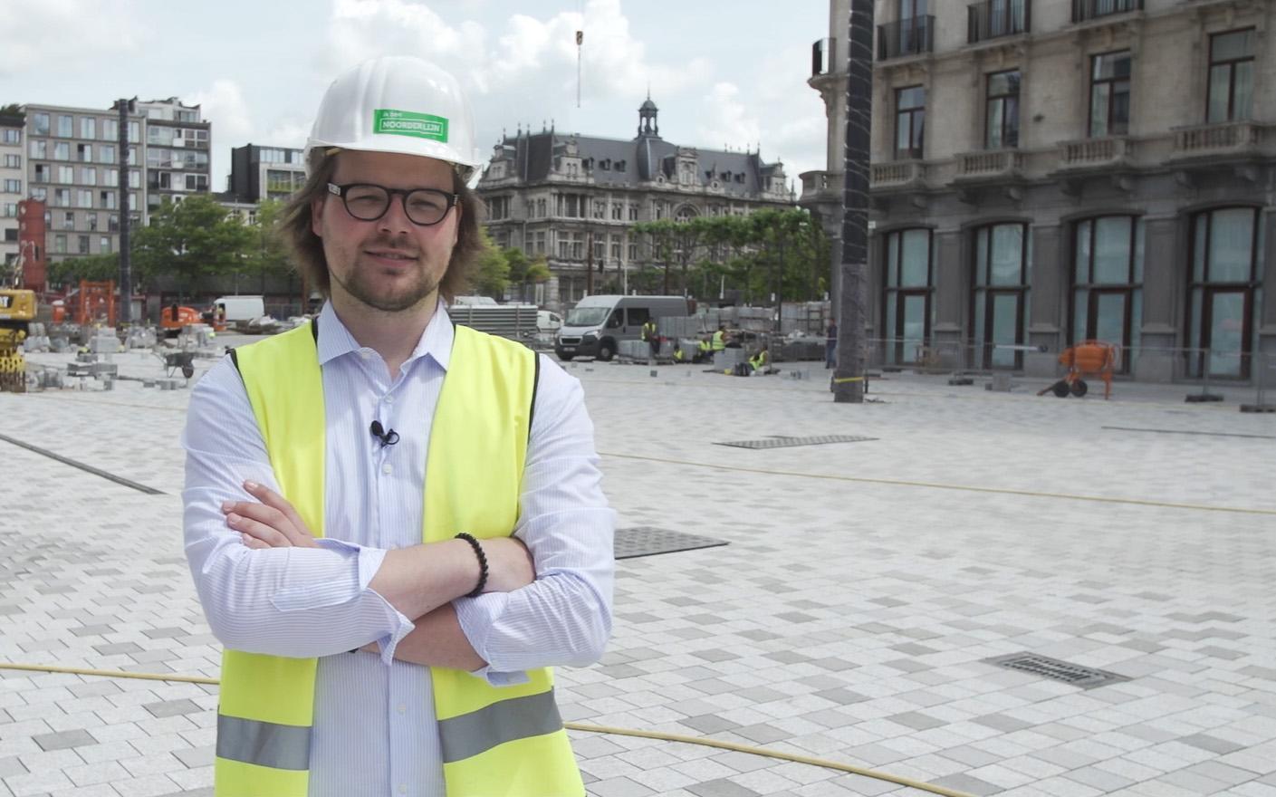 architect Wim Aerts op het Operaplein