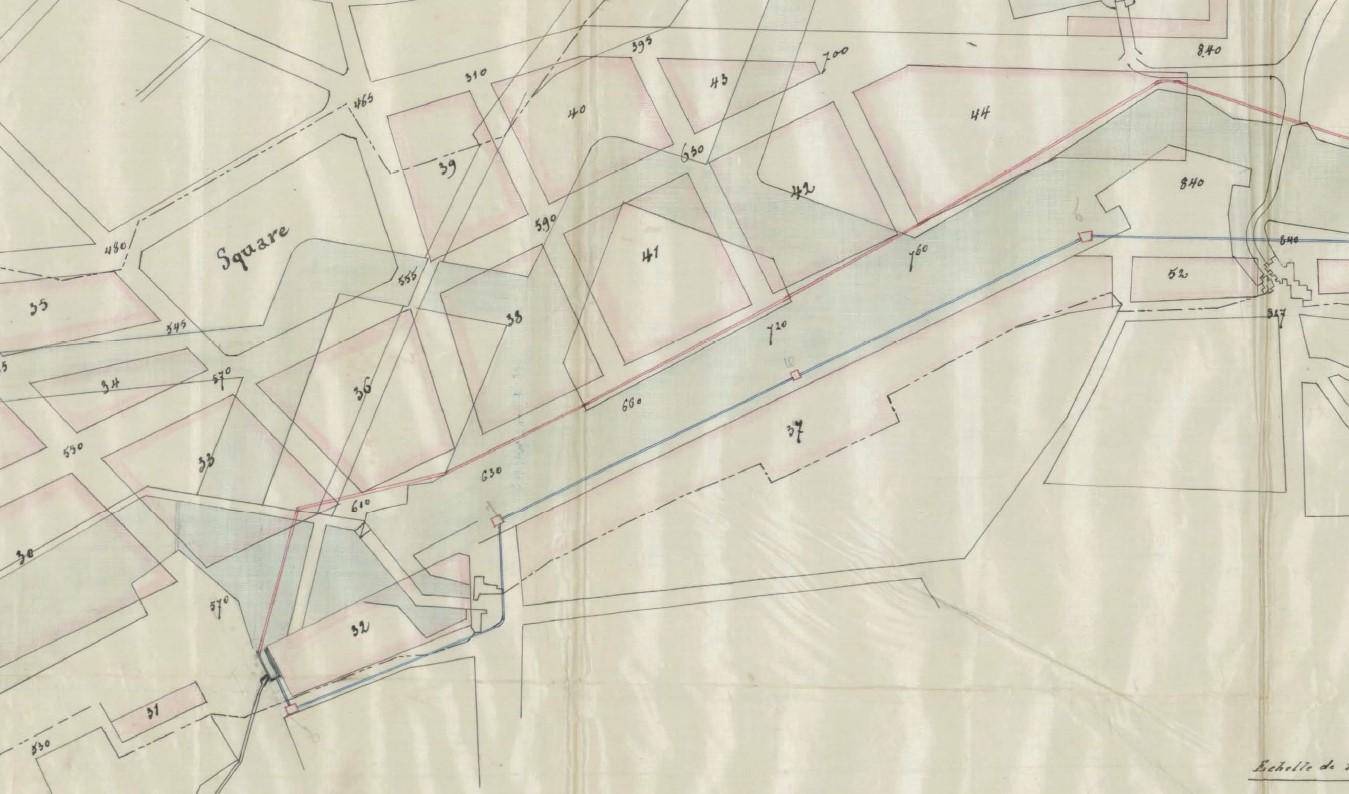 Het tracé van de historische Brouwersbuis