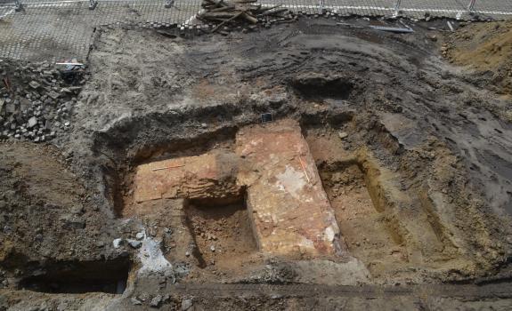 Archeologische restanten in de Bataviastraat