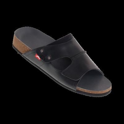 heren tweeband sandaal zwart