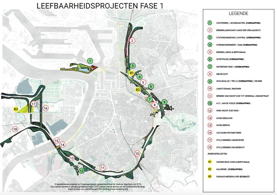 De 18 geselecteerde leefbaarheidsprojecten en 4 reserveprojecten.