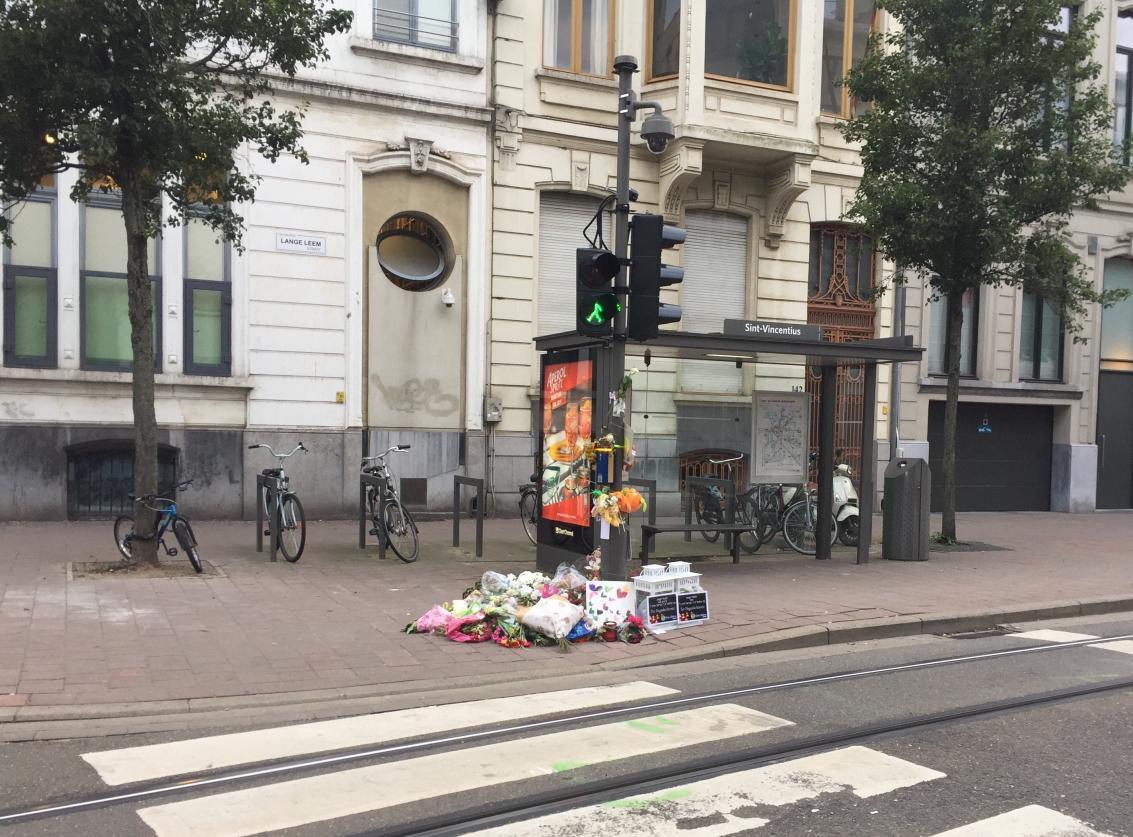 Kruispunt Lange Leemstraat.