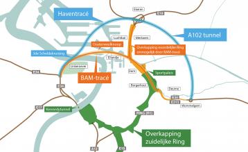Kaart Ringland Haventracé