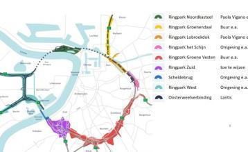 Kaart Ringparken