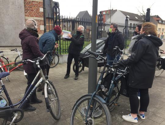 Verkennende fietstocht met de Ringland-antennes door Ringpark Het Schijn.
