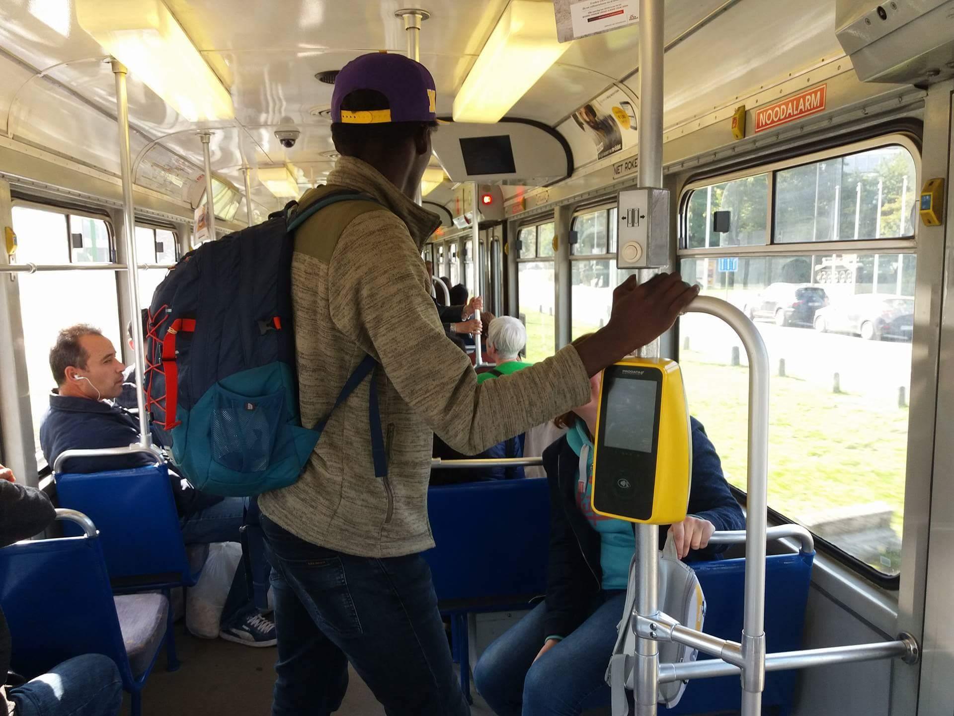 Mohamed Barrie op de tram