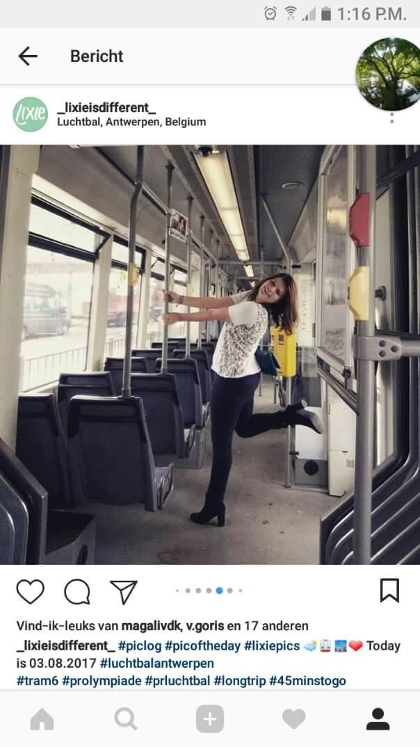 Alix op de tram
