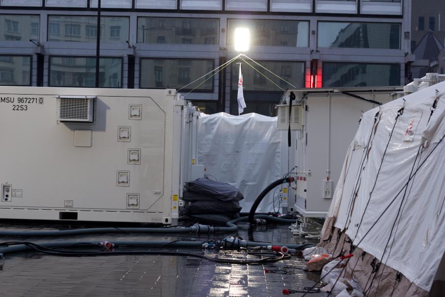 Containers Artsen Zonder Grenzen in Brussel
