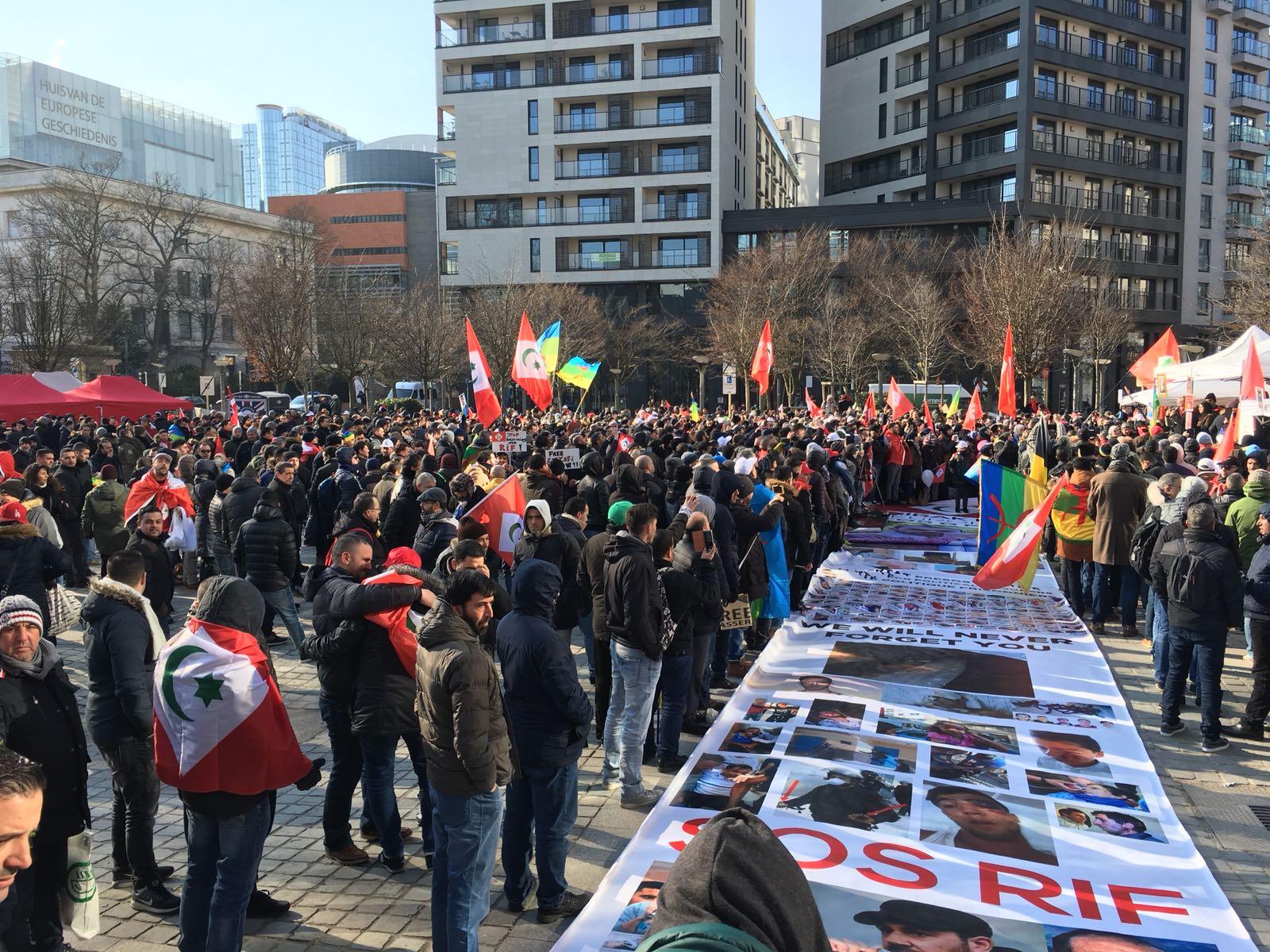 Drieduizend mensen protesteren voor Riffijnse zaak in Brussel