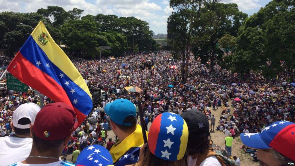 Een Venezolaans protest