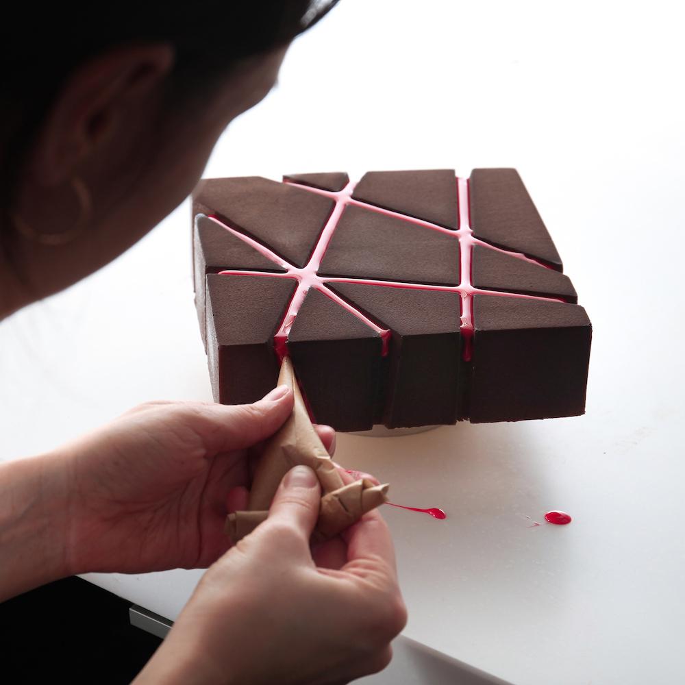 Geometrisch 3D-Dessert